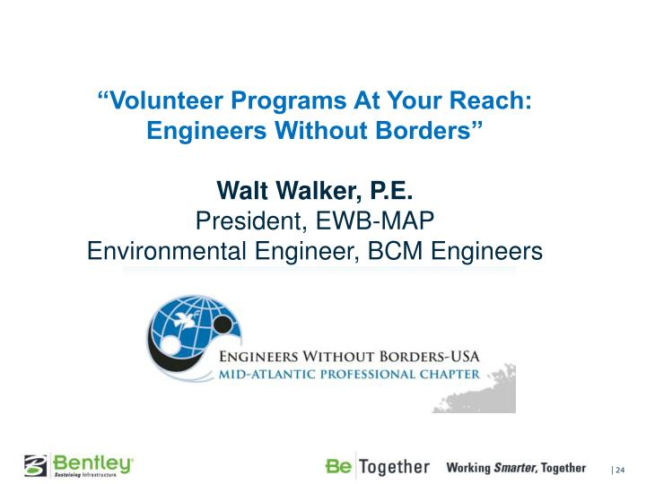 """Volunteer Programs At Your Reach: Engineers Without Borders"""