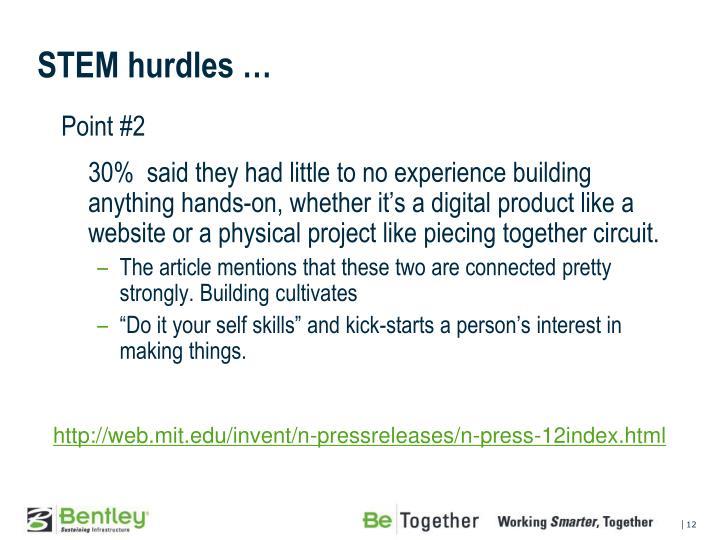 STEM hurdles …