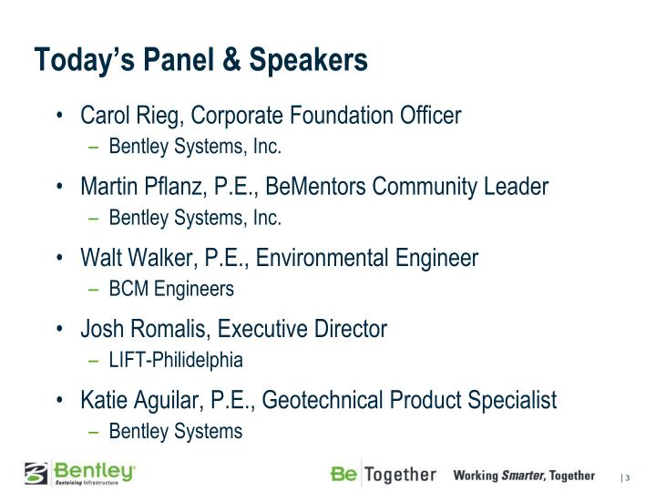 Today s panel speakers
