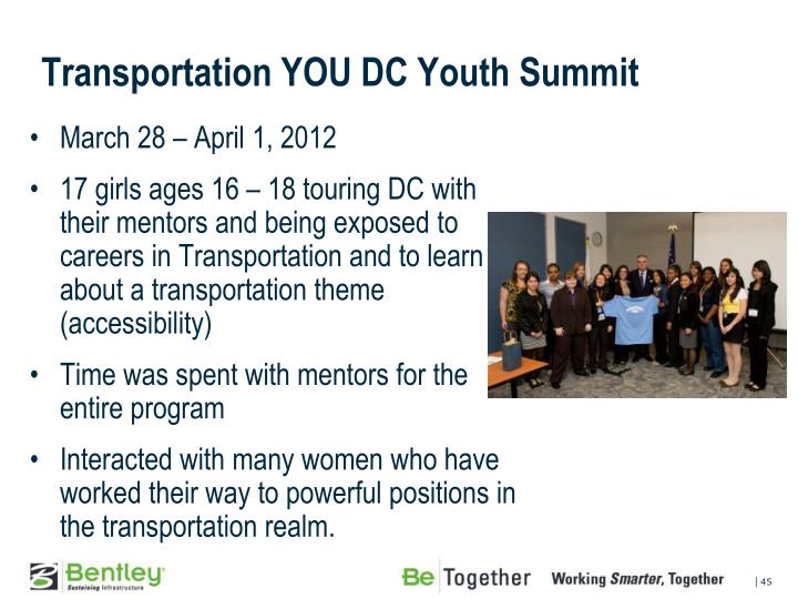 Transportation YOU DC Youth Summit