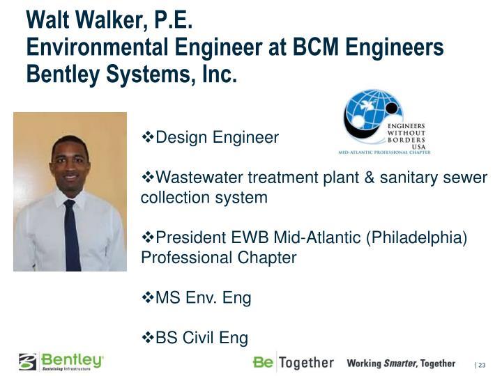 Walt Walker, P.E.