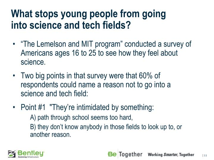 What stops young people from going
