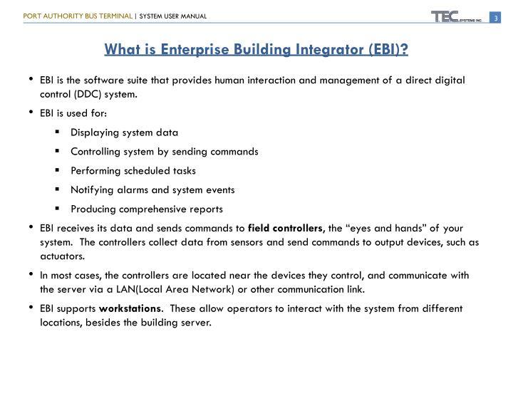 What is Enterprise Building Integrator (EBI)?