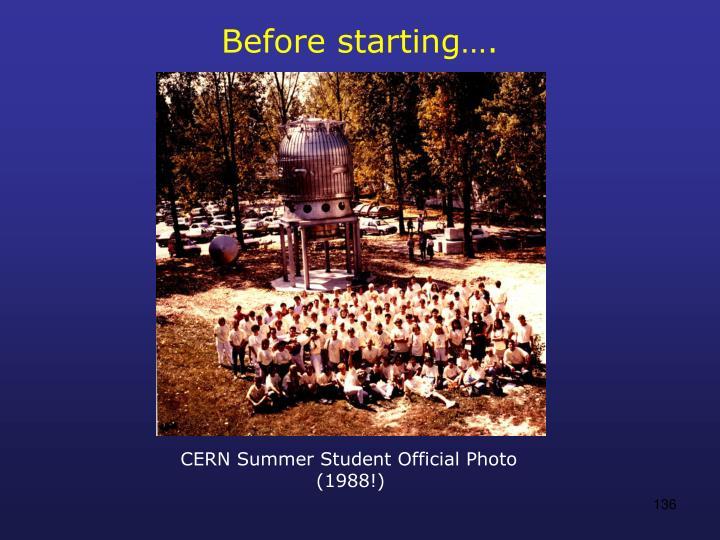 Before starting….