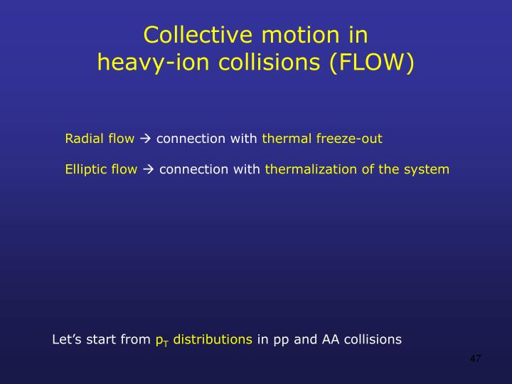 Collective motion in