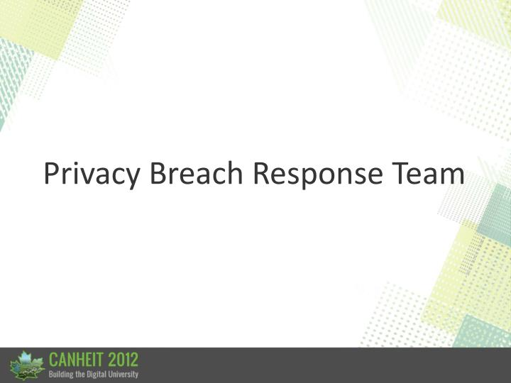Privacy Breach Response Team