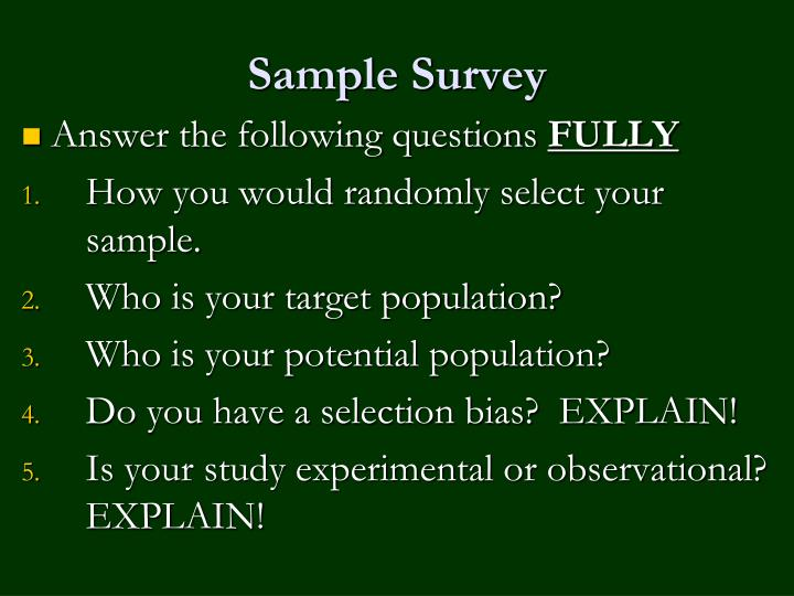 Sample Survey