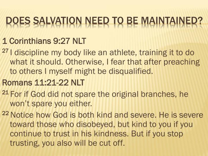 1 Corinthians 9:27 NLT
