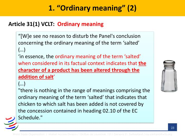 "1. ""Ordinary meaning"" (2)"