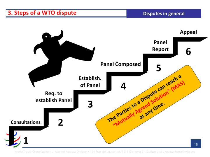 3. Steps of a WTO dispute