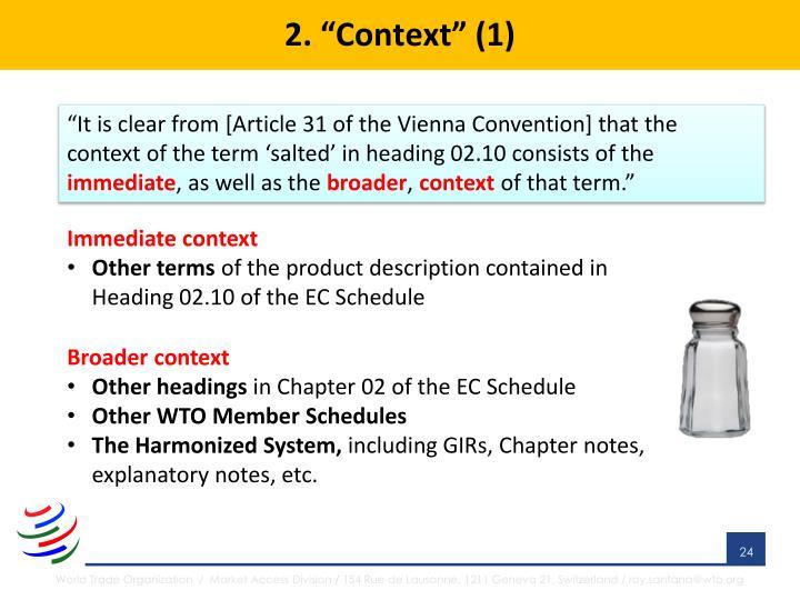 """2. """"Context"""" (1)"""