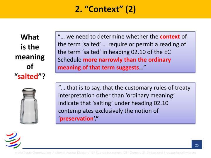 """2. """"Context"""" (2)"""