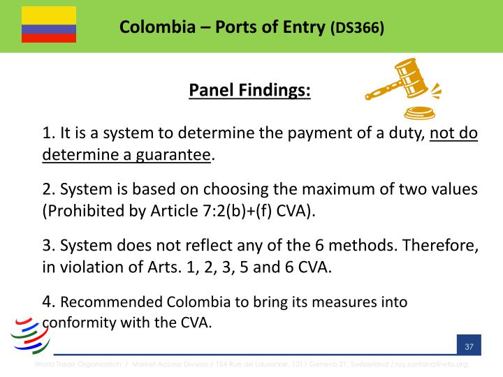 Colombia – Ports of Entry