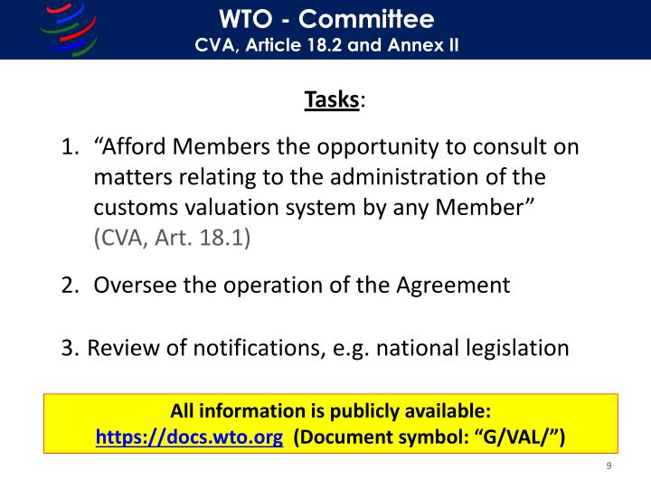 WTO - Committee