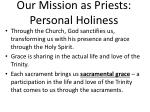 our mission as priests personal holiness