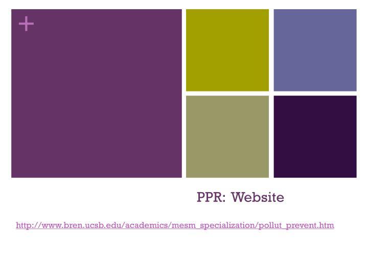PPR:  Website