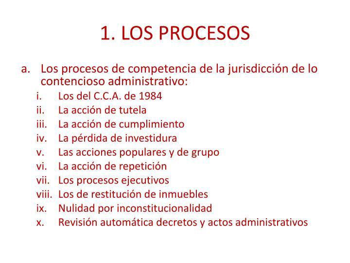 1. LOS PROCESOS