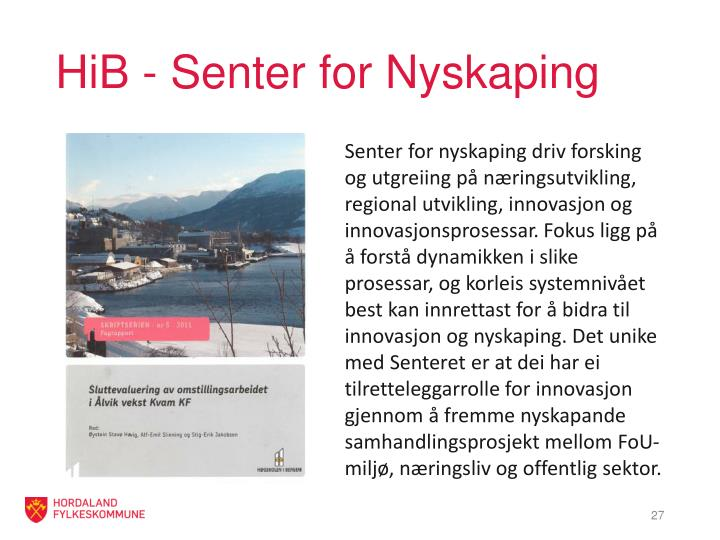 HiB - Senter for Nyskaping