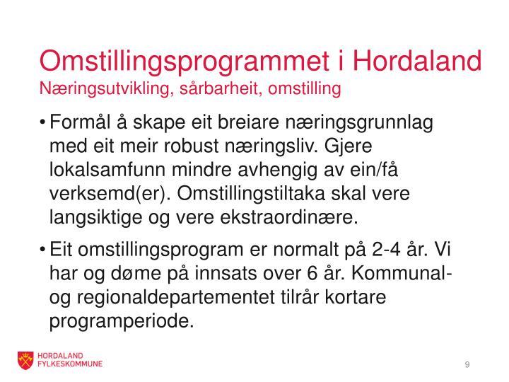 Omstillingsprogrammet i Hordaland