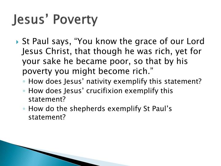 Jesus' Poverty