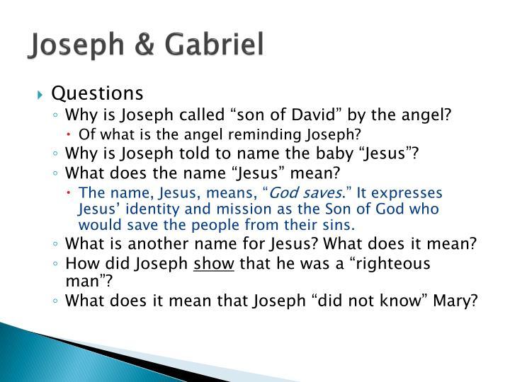 Joseph & Gabriel