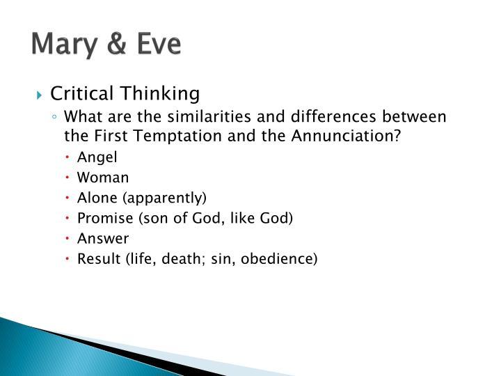 Mary & Eve