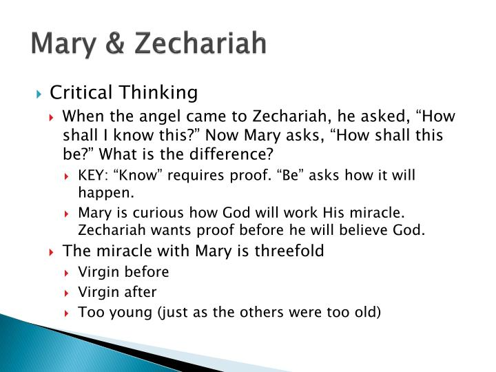 Mary & Zechariah