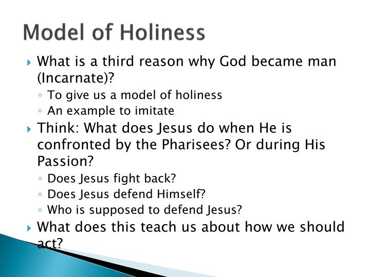 Model of Holiness