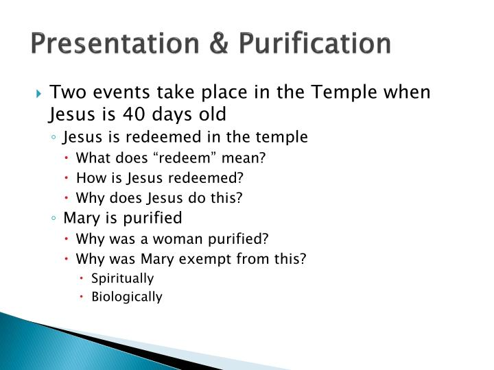 Presentation & Purification