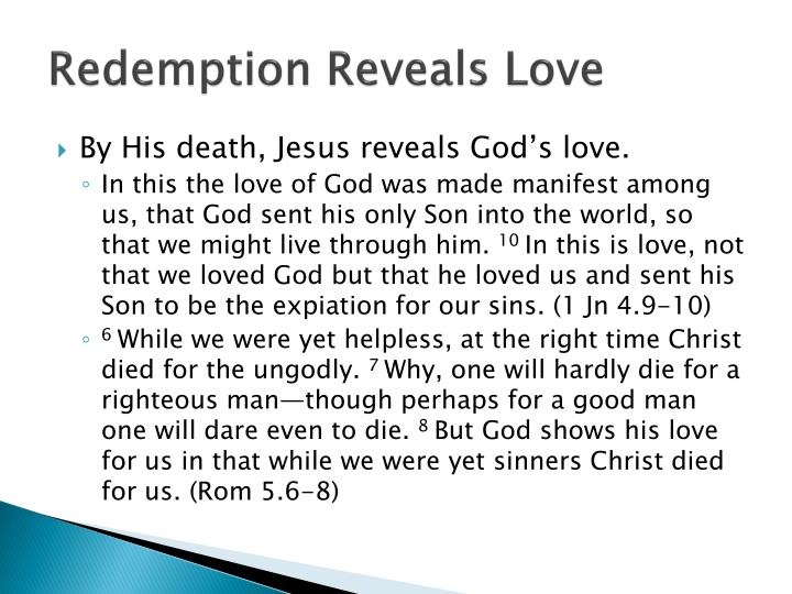 Redemption Reveals Love