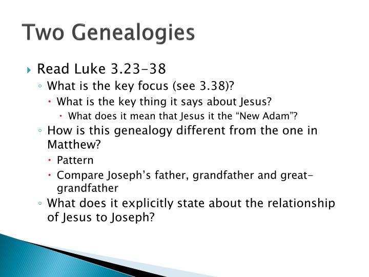 Two Genealogies
