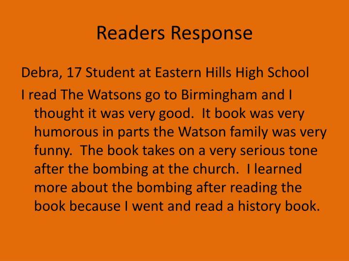 Readers Response