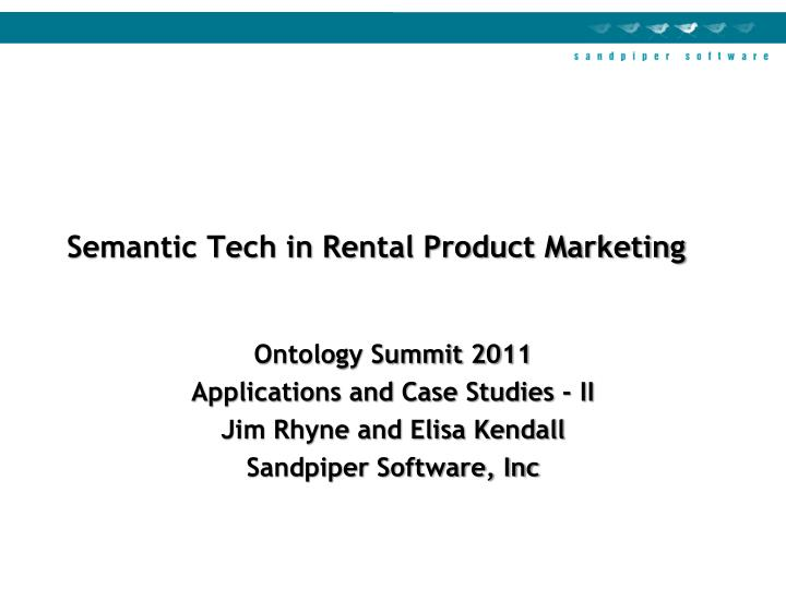 semantic tech in rental product marketing