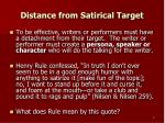distance from satirical target