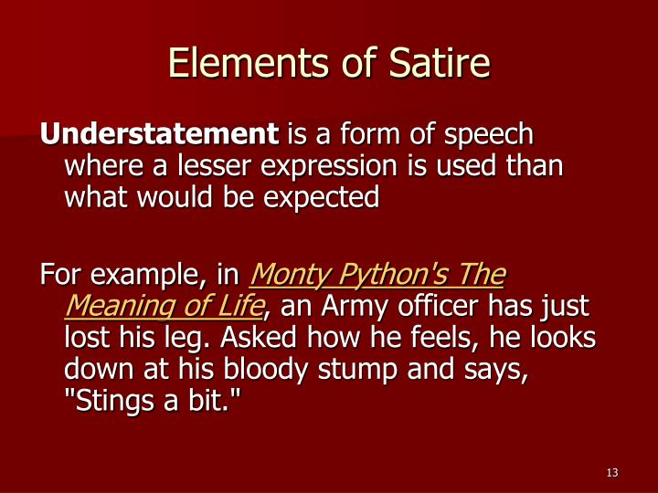 Elements of Satire