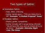 two types of satire