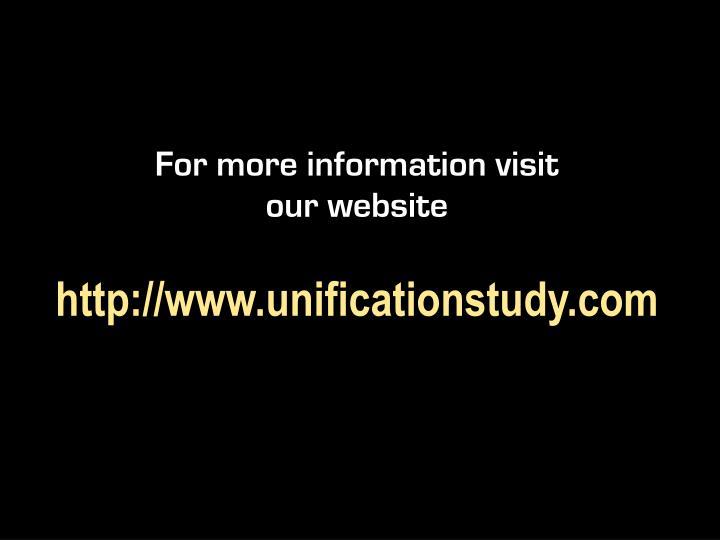 For more information visit our website