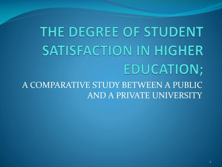 a comparison between public and private education