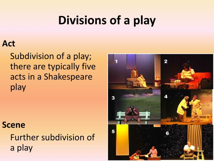 Divisions of a play