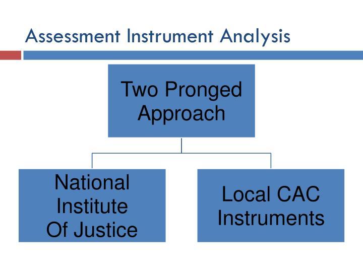 Assessment Instrument Analysis