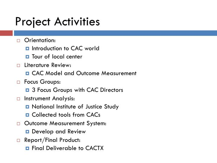 Project Activities