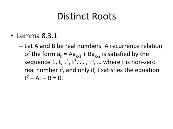 Distinct Roots