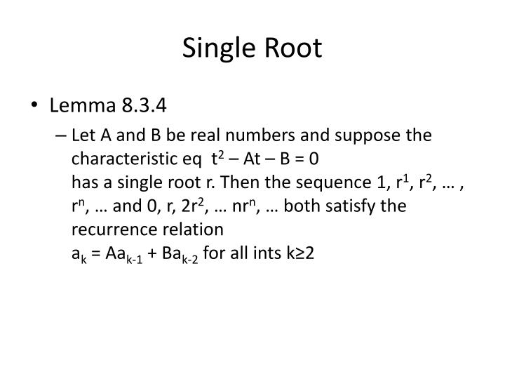 Single Root