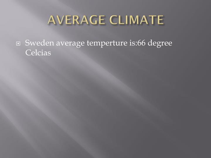 AVERAGE CLIMATE