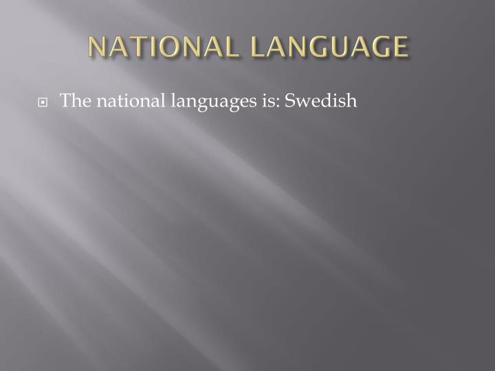 NATIONAL LANGUAGE