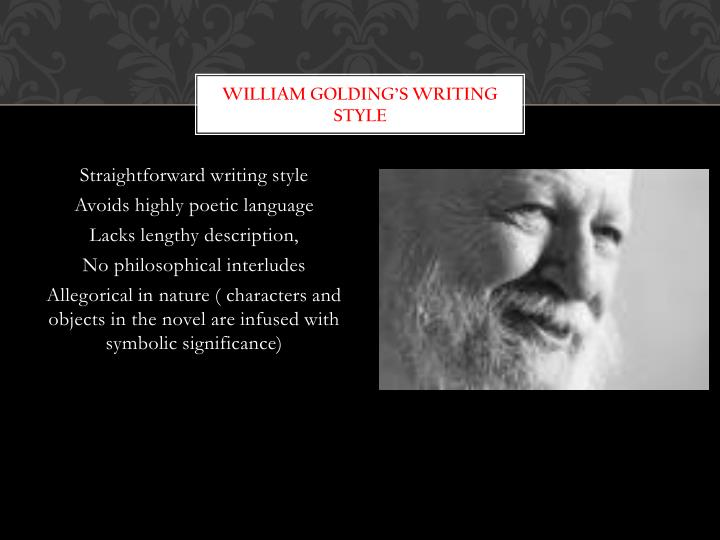 William Golding's writing style