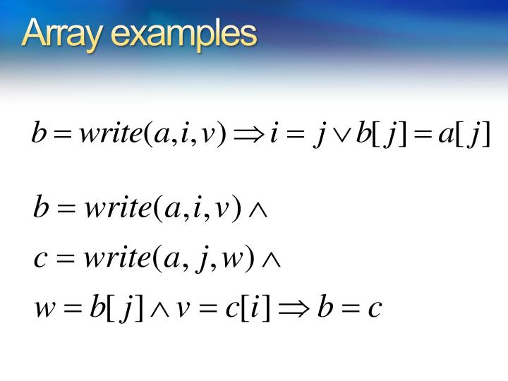 Array examples