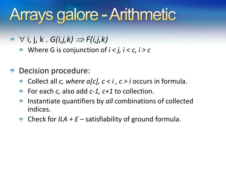 Arrays galore - Arithmetic