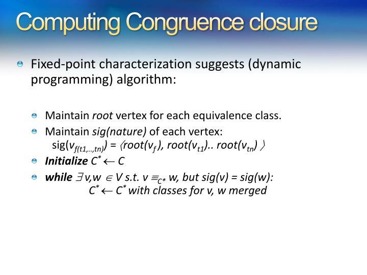 Computing Congruence closure