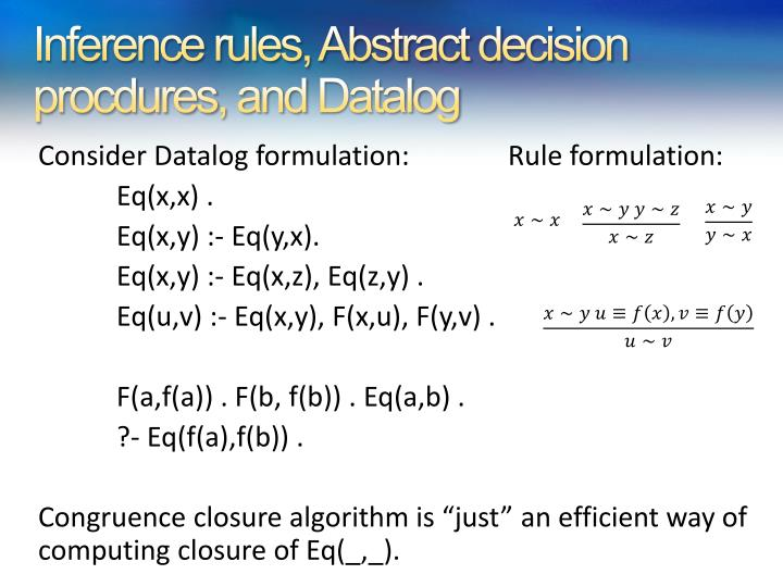 Inference rules, Abstract decision